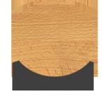 Chêne décapé brossé